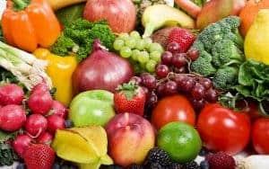 prevención de la caída del cabello frutas y verduras