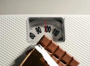 peso y chocolate
