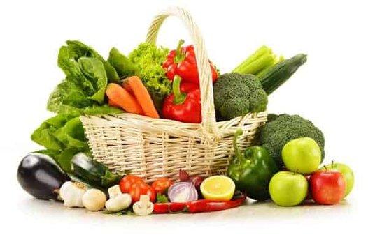 canasta de frutas y verduras