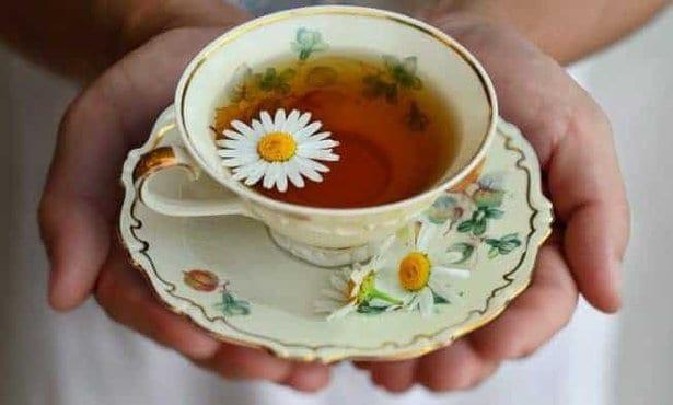 té con manzanilla