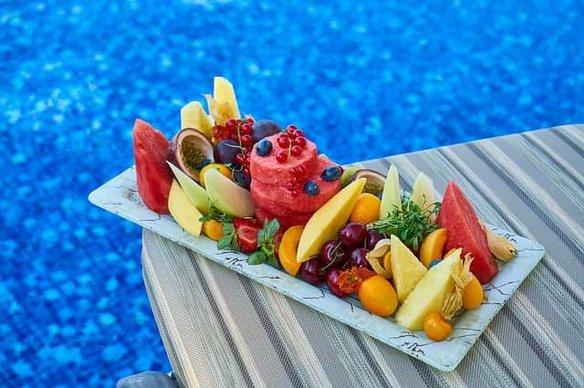 fruta, sandía, melón