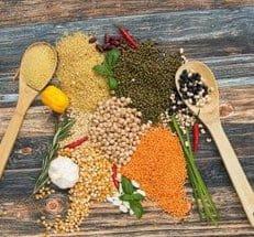 semillas, especias