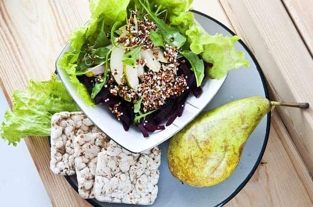 un plato saludable y dietético